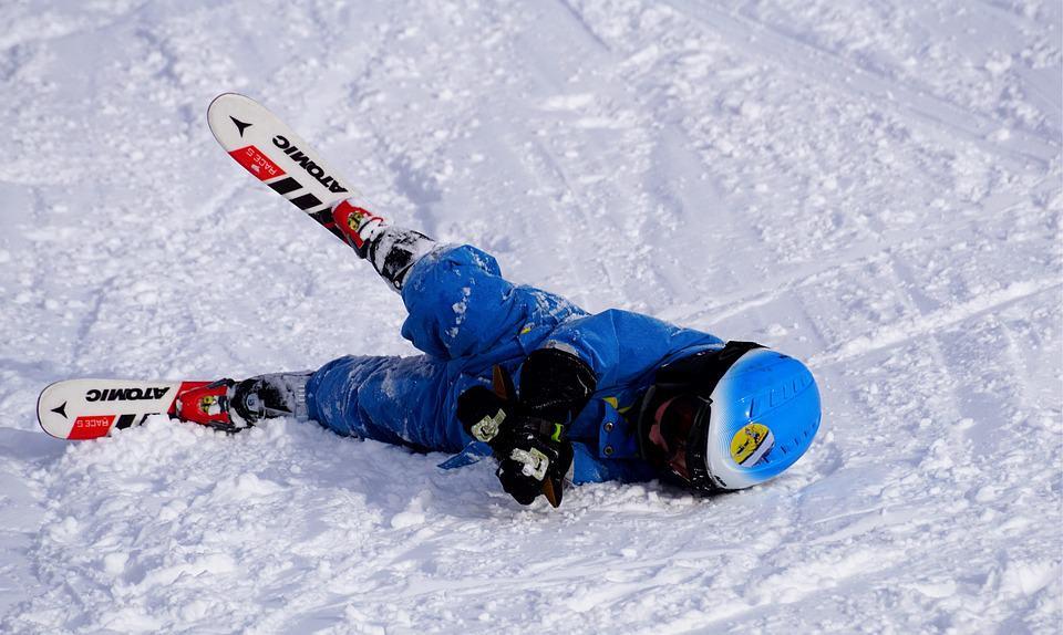 Betrunkener Skifahrer