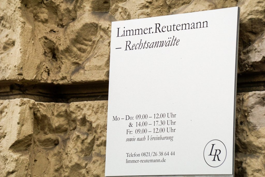 Öffnungszeiten der Kanzlei Limmer.Reutemann